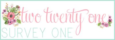 Two Twenty One Reader Survey