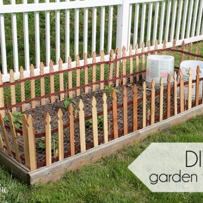 DIY Garden Fencing