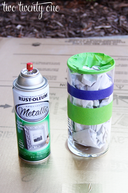 how to spray paint a vase