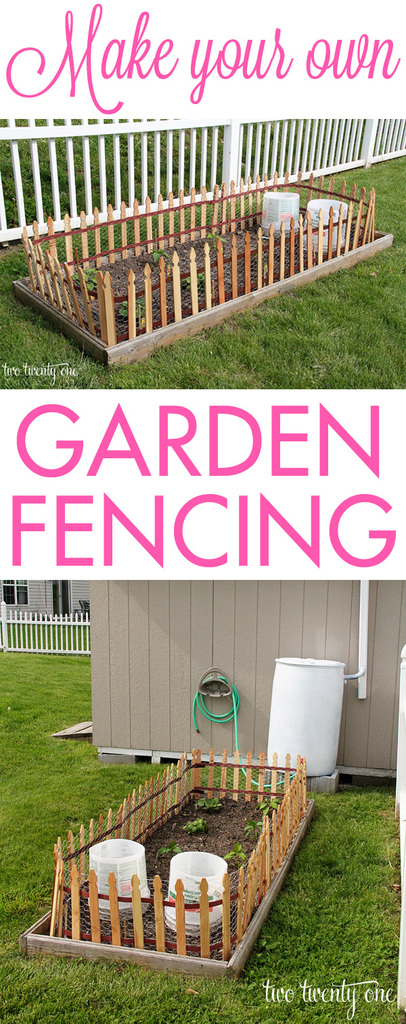 Make Your Own Garden Fencing