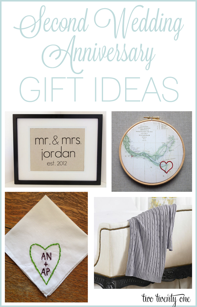 Second anniversary gift ideas for Traditional 1st anniversary gifts for her
