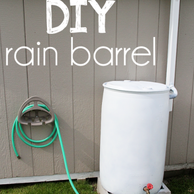 Rain Barrel How To {Harvesting Rainwater}