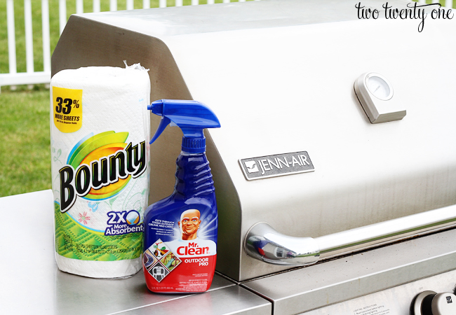 bounty and mr clean outdoor pro spray