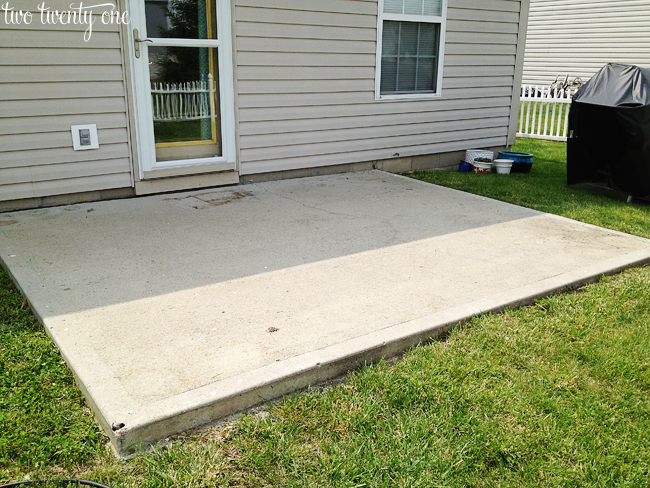 How to clean a concrete patio without pressure washer for How do i clean concrete