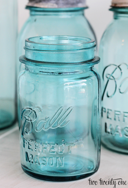 vintage blue ball mason jar
