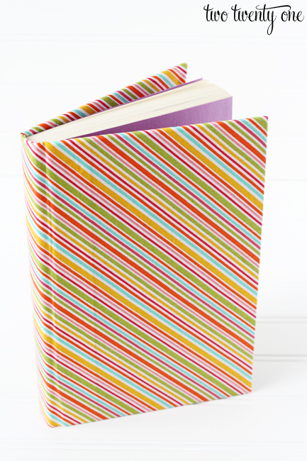 book covered in fabric