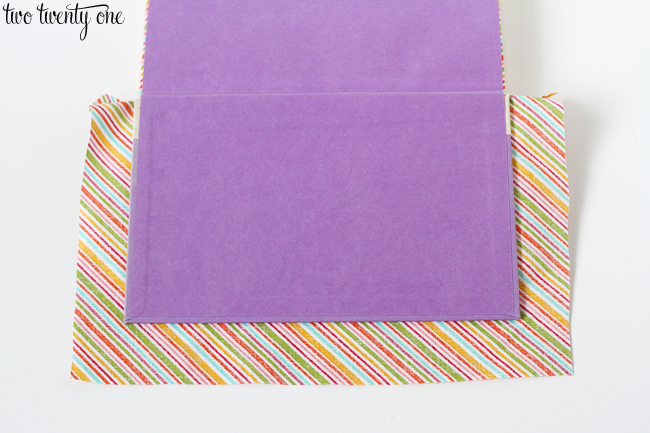 book covered with fabric