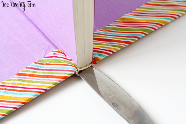 book with fabric