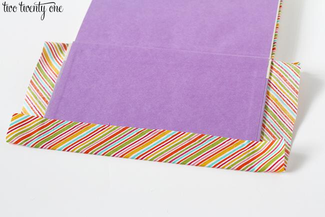 fabric book tutorial