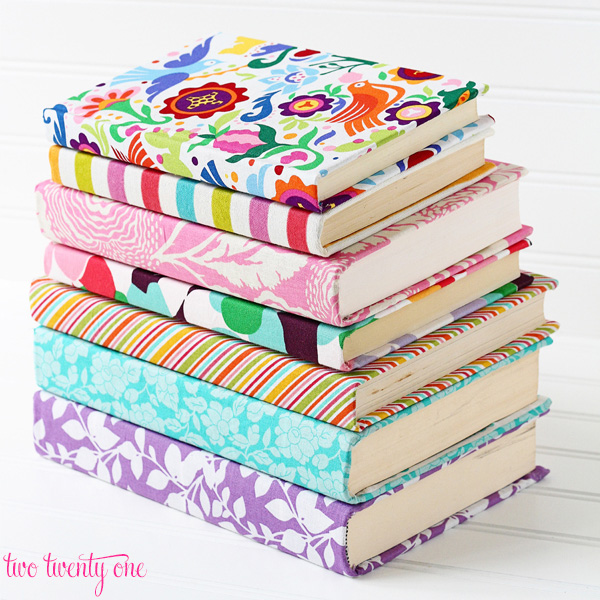 How to make fabric covered books!