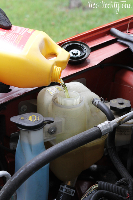 how to add coolant to car