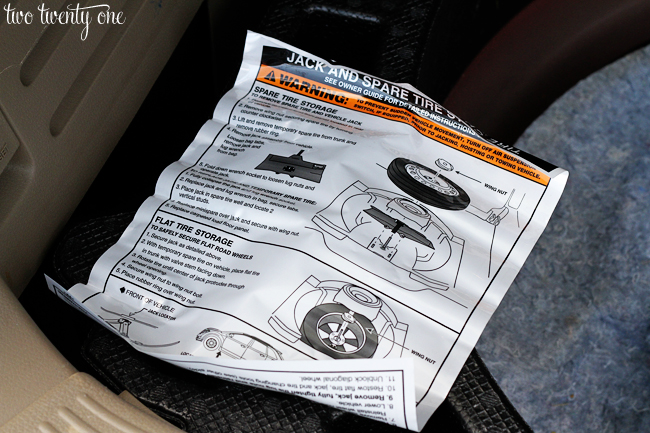 how to change a spare tire instructions