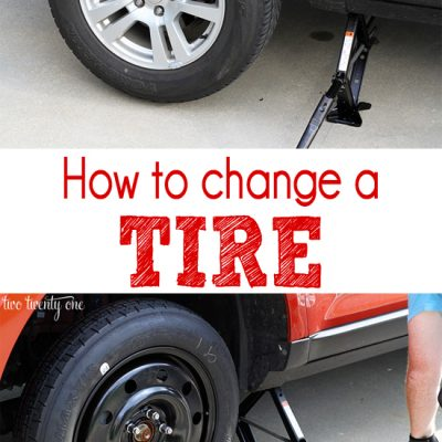 Car Series: Spare Tire {How to Change the Tire}