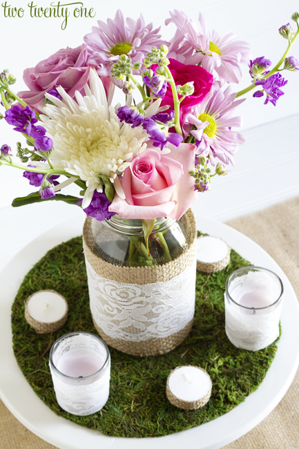 Diy rustic centerpiece