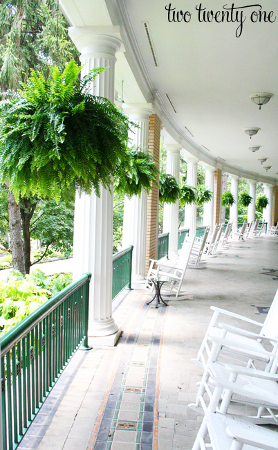 west baden springs hotel porch