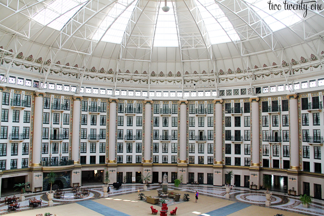 west springs hotel atrium