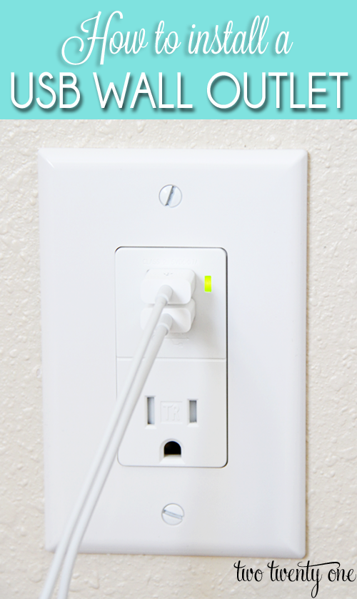 How to install a USB wall outlet