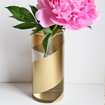 DIY Gold Striped Vases