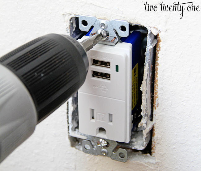installing USB receptacle