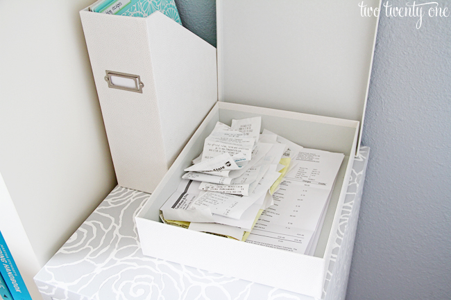 martha stewart home office with avery document storage box