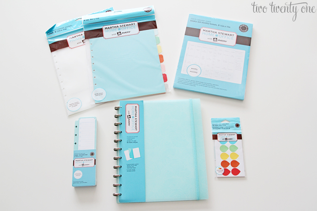 martha stewart home office with avery planner