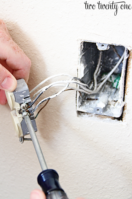 removing an electrical outlet