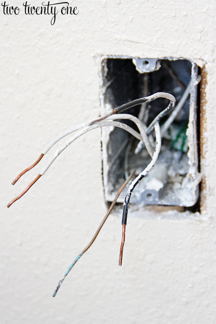 straightened electrical outlet wires