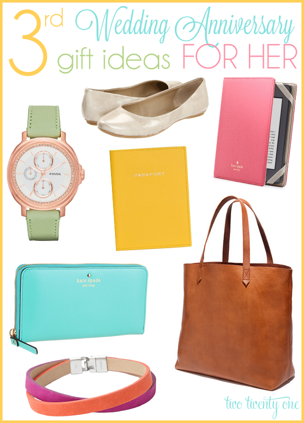 3 Wedding Anniversary Gift Ideas : for ideas, I noticed that chicks have more colorful leather gift ...