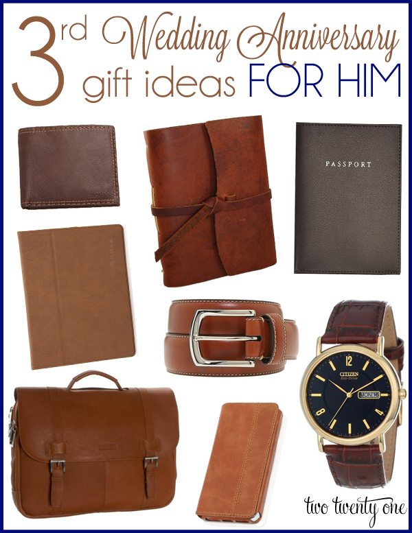 1 Yr Wedding Anniversary Gifts For Him : third wedding anniversary gift ideas for him