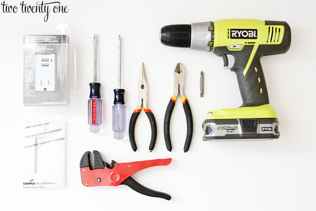 tools needed to install USB receptacle
