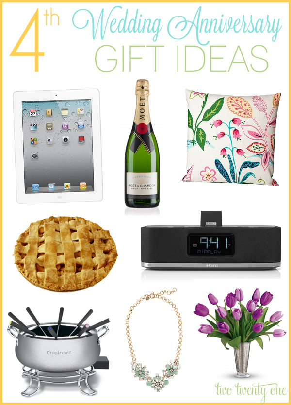 4 Yr Wedding Anniversary Gift Ideas : 4th anniversary gift ideas