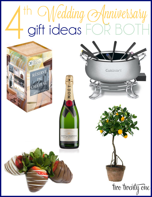 4th wedding anniversary gift ideas for him and her!