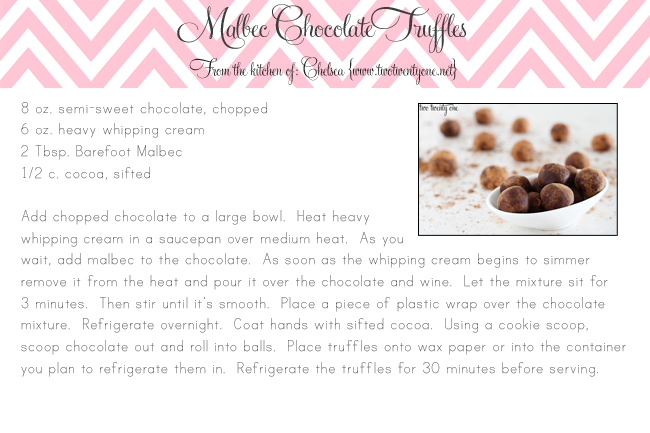 4x6 malbec chocolate truffles
