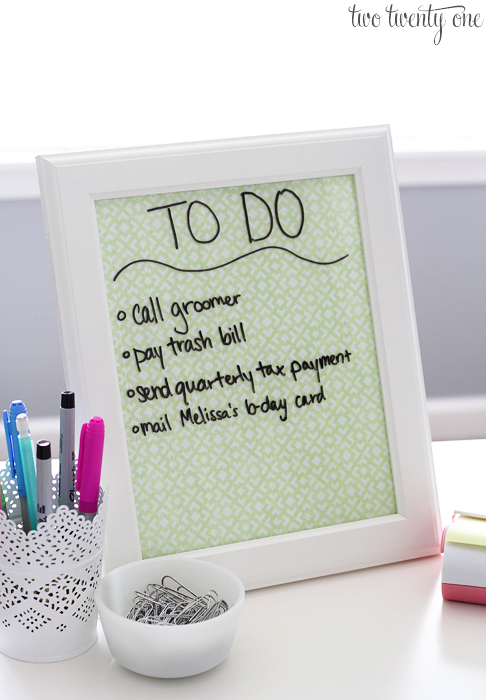 how to make whiteboard small for kids