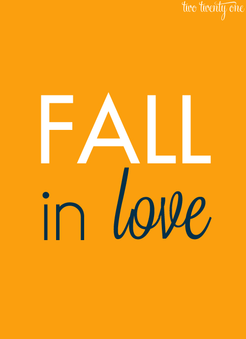 FREE fall in love printable