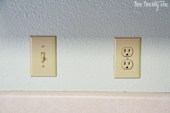electric outlet and switch