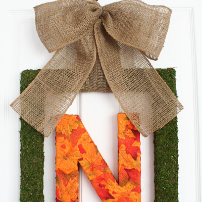 Fall Monogram Wreath {DIY}