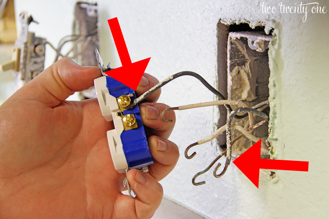 how to install electric receptacle box
