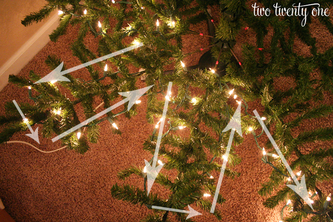 String Lights On Tree Branches : How to Put Lights on a Christmas Tree - Two Twenty One