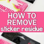 how to remove pricetag sticker residue