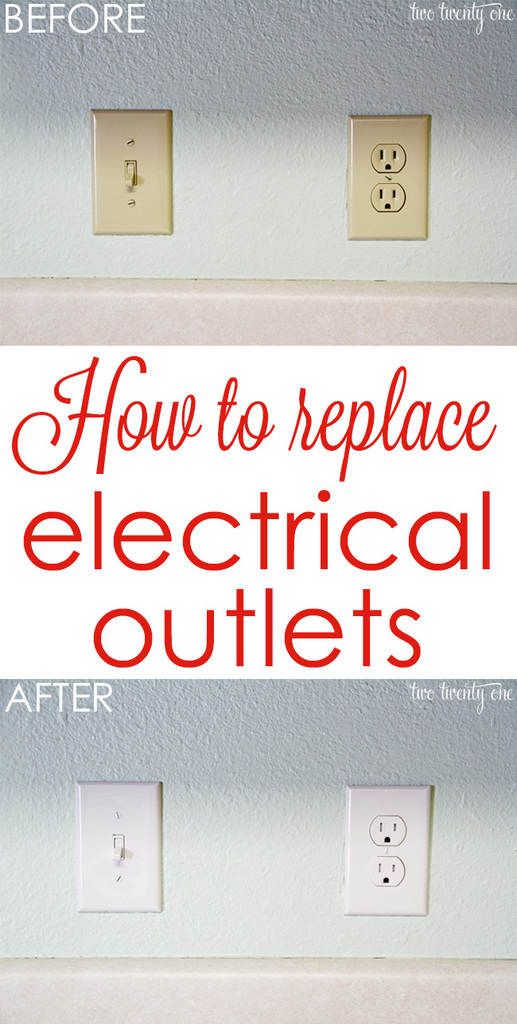 How To Wire A Pull Chain Light From An Outlet Install Usb Wall Receptacle Get Rid Of Those Outdated Almond Colored Outlets Replace Electrical