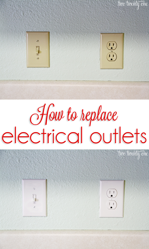 how to change color of electrical outlets