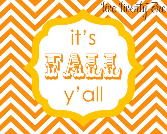 its fall yall orange and yellow