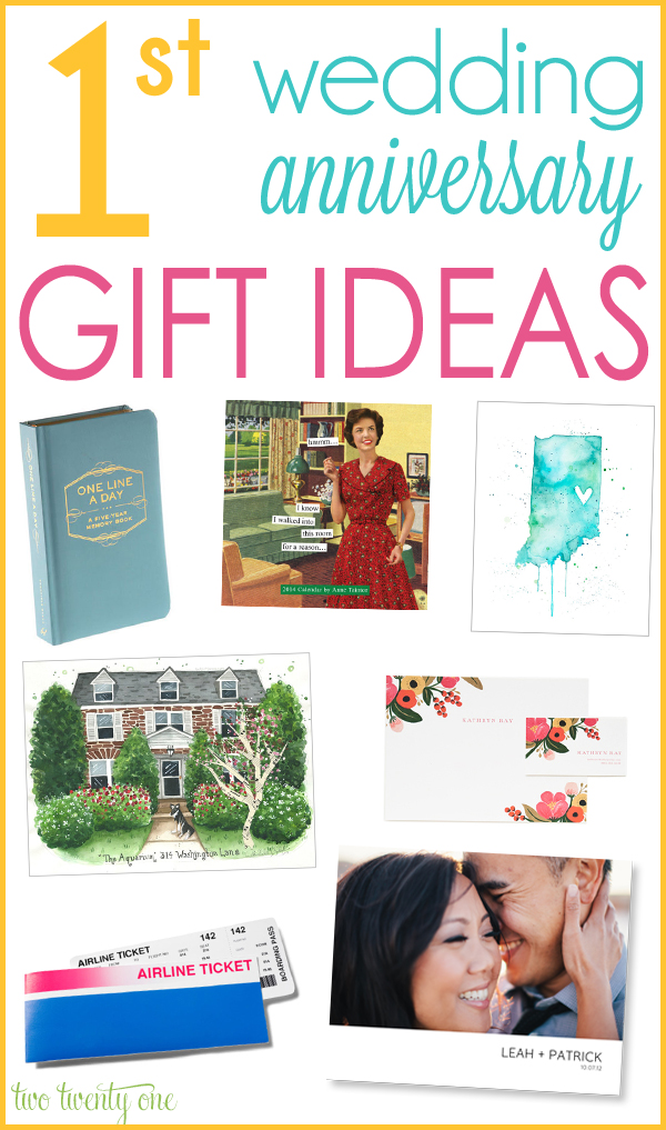 GREAT 1st wedding anniversary gift ideas!