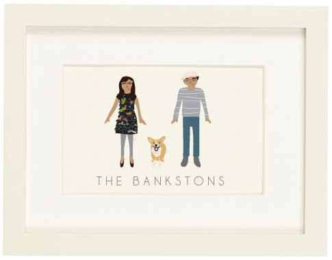 Custom Family Portrait Illustration by My Little Buffalo
