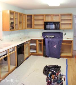 Http Www Twotwentyone Net Kitchen Cabinet Makeover Reveal