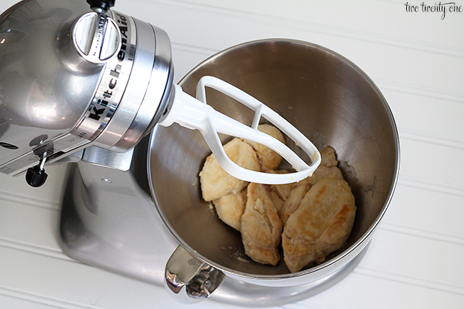 How to shred chicken with a KitchenAid mixer