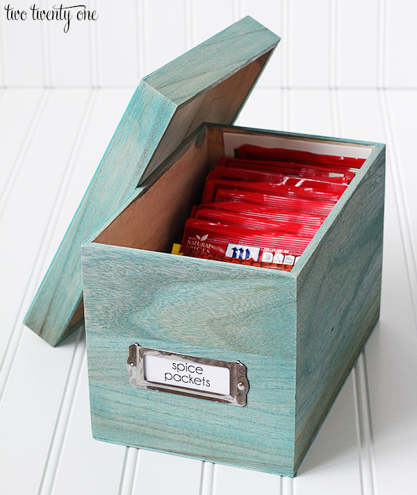 spice packet organization box