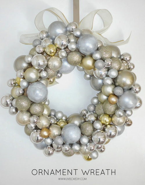 ornament wreath by Live Love DIY