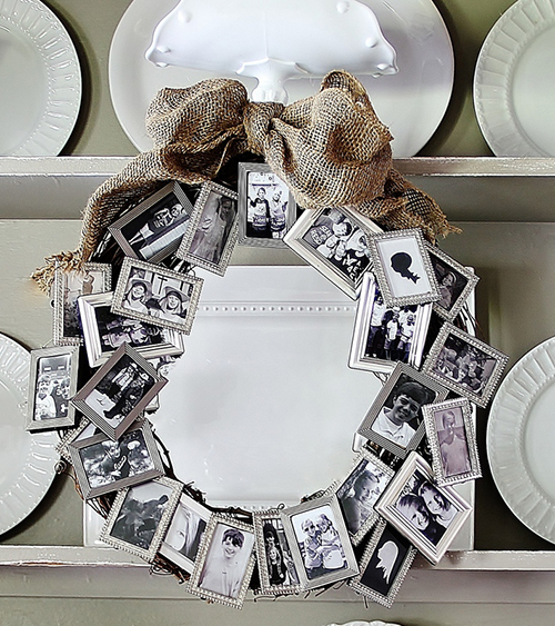 picture frame wreath by Thistlewood Farms